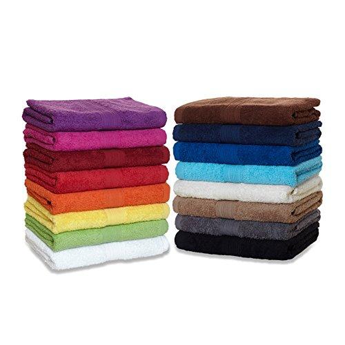 Saunatuch XXL Serie Arizona/Saunalaken/Strandtuch 100x200 cm 100{9ad881215a0528ef1d1b314b6d90a73fdee46abf2942ffc3b46af7d50dc54031} Baumwolle 500 g/m² in Farbe: Sand