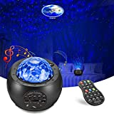 Galaxy Projector AOELLIT Star Light Projector Skylight with Moon, Earth and Planets for Bedroom Ceiling, LED Starlights Music Sky Light Starry Night Light Planetarium Nebula Cove Projector