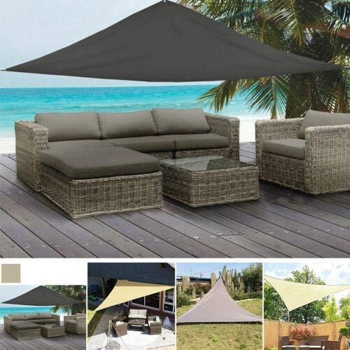 SEHNL Impermeable Refugio Triángulo del Sol Protección Parasol Canopy al Aire Libre Jardín Patio Piscina Toldo de Vela Toldo Camping Sombra de Tela Cubierta Arena Protección (Color : Gray 2x2x2m)