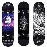 RORA Completo Skateboard per Principianti, 31'' x 8'' 7 Strati Skate Board per Bambini Adolescenti Giovani Adulti Ragazze Ragazzi (Cool)