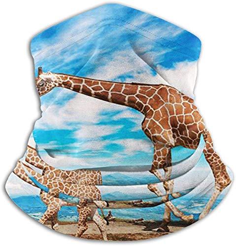 Unisex Giraffe Jonge Moeder Winter Fleece Neck Warmer Gaiters Haarband Koud Weer Tube Gezicht Masker Thermische hals Sjaal Outdoor UV Bescherming Party Cover Zwart