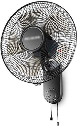 MAMINGBO Ventilador de Pared, de 16 Pulgadas, 3-Velocidad, silencioso, ángulo Ajustable, montado en la Pared del Ventilador, Ideal for la Oficina en casa 60W
