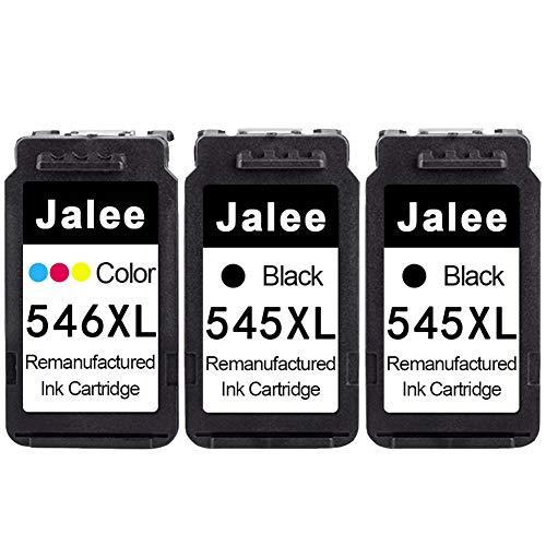 Jalee 3× Cartucce d'inchiostro rigenerata in sostituzione di Canon PG-545XL CL-546XL Compatibile per Canon PIXMA MX495TS3150 TS3151 MG2400 MG2450 MG2500 MG2550 MG2550S MG2555 MG2555S MG2950 MG2950S