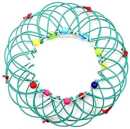 Cesta mágica de mandala de flores de juguete 3D de meditación de juguete mágico, bucles de alambre, mandala, flor 3D, mandala, meditación, decoración del hogar, cesta de flores, color verde