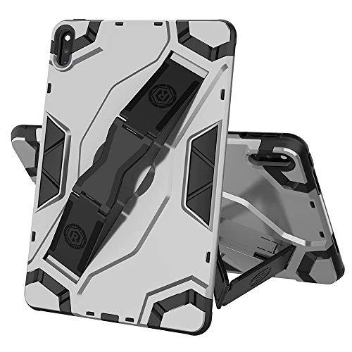 FanTing Cover for Lenovo Tab E10 TB-X104F Tablet Case, non-slip hand strap, adjustable segment bracket, anti-fall protective shell suitable for Lenovo Tab E10 TB-X104F.(Silver)