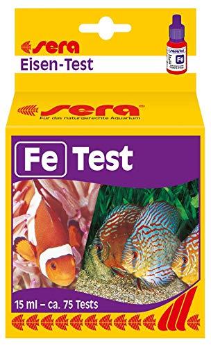 sera 04610 IJzeren test (Fe), watertest voor ca. 75 metingen, meet betrouwbaar en precies het ijzergehalte, voor zoet- en zeewater, in het aquarium of vijver.