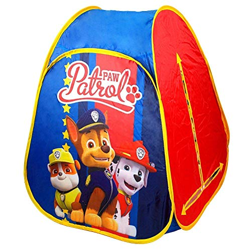 PAW PATROL Indoor & Outdoor Kids Pop Up Play Tent Playhouse with Play Mat