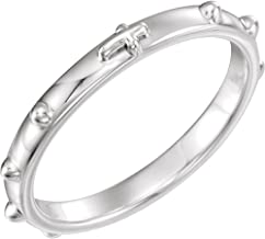 Bonyak Jewelry Sterling Silver Rosary Ring - Size 5
