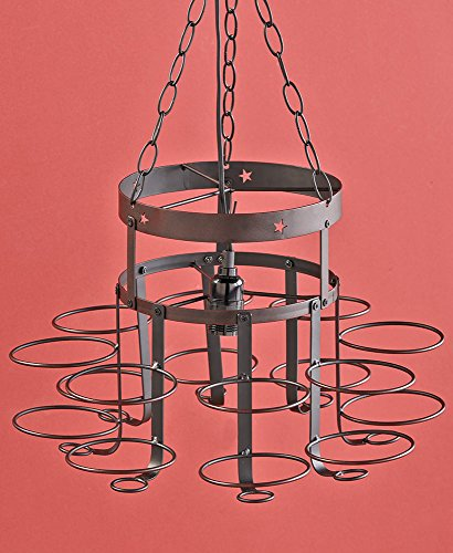 Wrought Iron Canning Jar Chandelier.