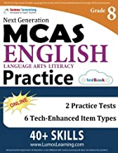 MCAS Test Prep: Grade 8 English Language Arts Literacy (ELA) Practice Workbook and Full-length Online Assessments: Next Generation Massachusetts Comprehensive Assessment System Study Guide
