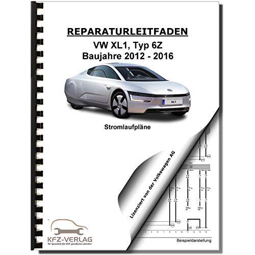 VW XL1 Typ 6Z 2012-2016 Schaltplan Stromlaufplan Verkabelung Elektrik Pläne