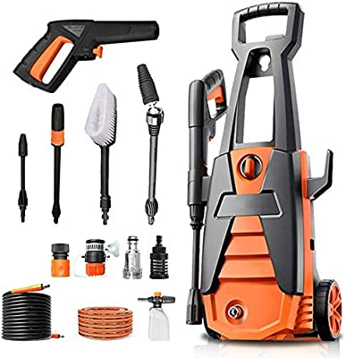 Indoor and Outdoor Cleaning Tools Mop Pressure Washer Ipx5 Waterproofing System, 120Bars 1600W Full Copper Motor Pump Jet Washers, Car Washing Machine, Suitable for Vehicle, Home, Garden dljyy from Dljxx