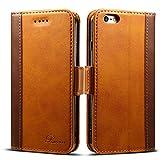 iphone6s ケース 手帳型 iphone6ケース 手帳 Rssviss 高級PUレザー 財布型 アイフォン6sケース カバー カード収納 マグネット スタンド機能 W3 ブラウン(iPhone6&6s対応)【4.7inch】