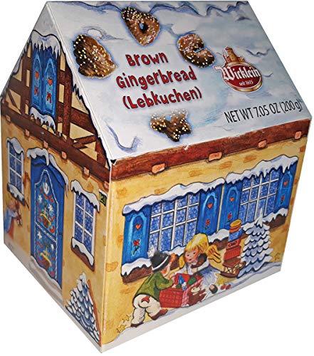 Wicklein Gingerbread Cookie Assortment - Winterhaus Chocolate Lebkuchen Hearts With Sprinkles, 7.05 oz