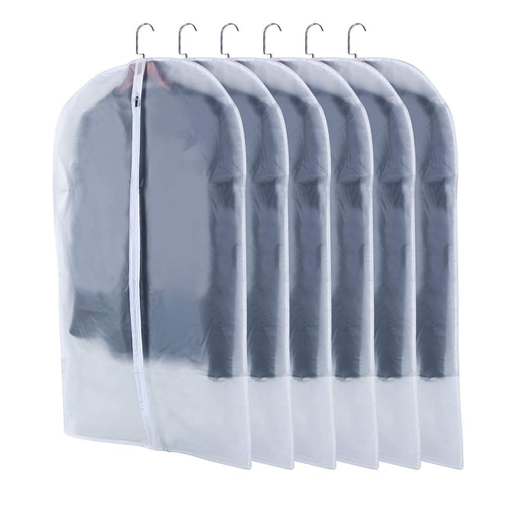 クロスアッパーはっきりしないMDLJLF 洋服カバー 衣類カバー 収納用品 衣類収納ケース 中身が見える 防塵 防湿 防カビ 収納用品 型崩れ防止 5枚組 (5枚組 M)