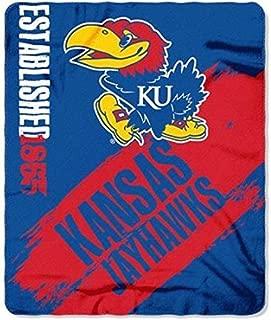 NCAA Officially Licensed Kansas Jayhawks Paint Stripe Fleece Throw Blanket