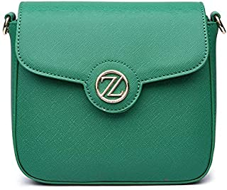 Zeneve London Laura Crossbody Bag For Women - Green