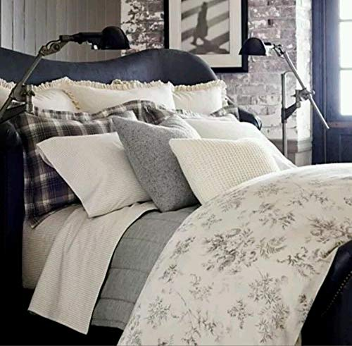 Ralph Lauren Hoxton Collection Ainslie Duvet Cover - Cotton - Cream Grey Floral - Full/Queen