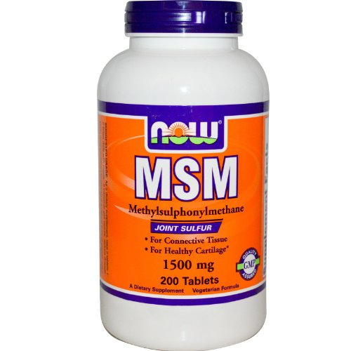 NOW FOODS MSM 1500 mg - 200 Tablets - Metilsulfonilmetano