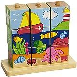 Goula - Cubos de madera, diseño mar (Diset 55198) , color/modelo surtido