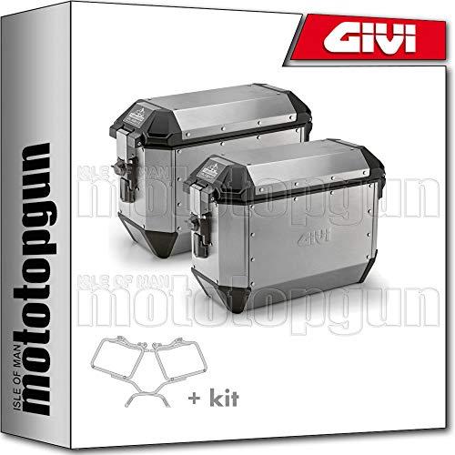 givi portamaletas lateral + maletas lateral ala36apack2 trekker alaska compatible con bmw g 650 gs 2011 11 2012 12