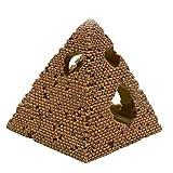 Yissone Acuario Camarón Escondite Ornamento Resina Pirámide Egipcia Reptiles Escondites Tanque de Peces Cueva Refugio Decoración para Peces Tortuga