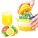 Kokuji Citrus Lemon Orange Juicer Manual Hand Squeezer, Fruit Juicer Lime Press With Built-in Measuring Cup And Grater And Egg Separator,12OZ,Green