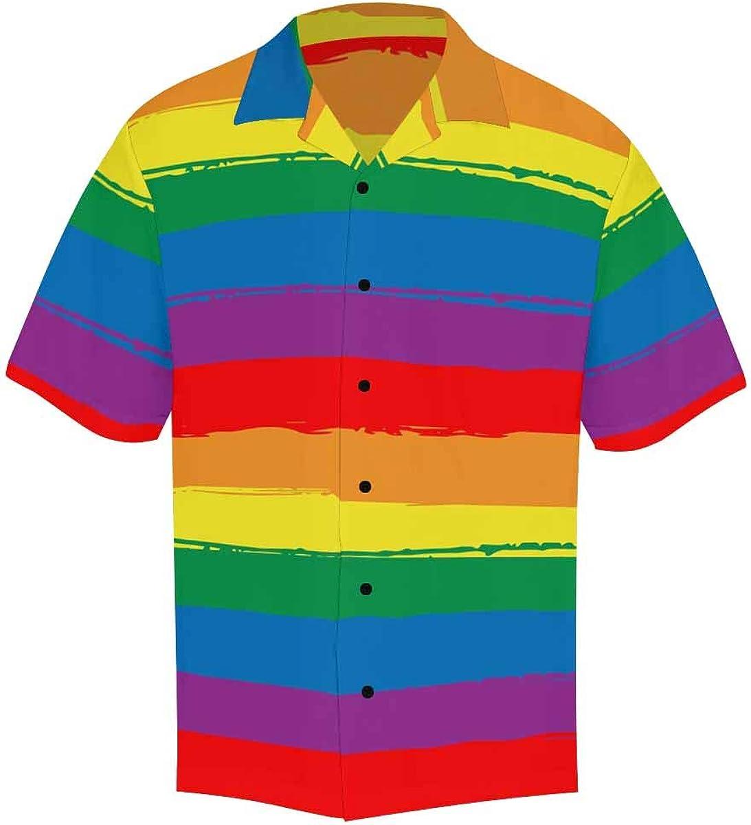 InterestPrint Men's Casual Button Down Short Sleeve Japanese Summer Pattern Hawaiian Shirt (S-5XL)