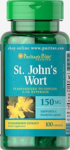Puritan's Pride St. John's wort 150 mg 100 Capsules 6551