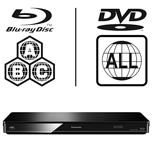 Panasonic DMP-BDT370EB Smart 3D 4K Upscaling WiFi ICOS Multi Region All Zone Code Free Blu-ray Region A, B und C, DVD-Regionen 1-8, YouTube, Netflix etc. HDMI Ausgang HDD Wiedergabe