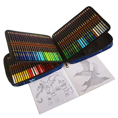 120 Lapices Colores Profesionales, Afilados de fábrica, Estuche Lapices dibujo para Adultos y Niños, Ideal para Colorear, Mandalas Colorear Adultos, Material Escolar