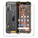 HHUAN Case for Cubot King Kong 5 Pro (6.09 Inch) with Tempered Glass Screen Protector, Clear Soft Silicone Protective Cover Bumper Shockproof Phone Case for Cubot King Kong 5 Pro - Clear