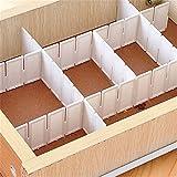 Zhouba - Set di 6 divisori in plastica per cassetti fai da te