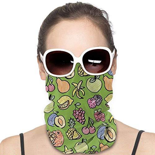 yunshenbuzhichu Ananas Birne Zitrone Banane Gesichtsmaske Bandana Magic Schal Hals Gamasche Staub Wind Masken