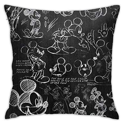Boweike Mickey Mouse Sketch Throw fundas de almohada 40 x 18 pulgadas forma cuadrada cubierta de cojín decorativa para sofá