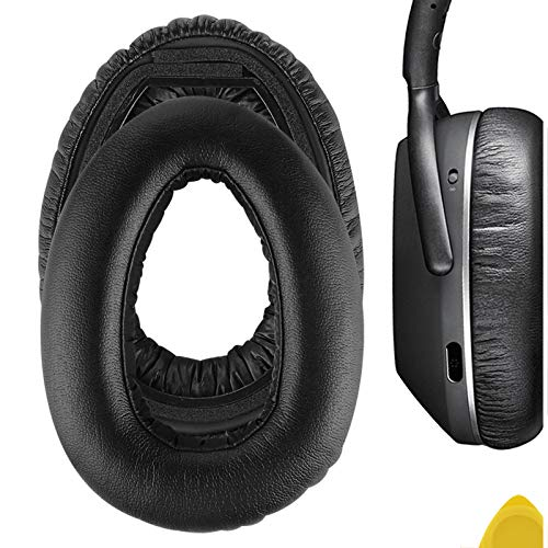 Geekria QuickFit Protein Leather Replacement Ear Pads for Sennheíser PXC 550 PXC 550-II Wireless MB 660 Series Headphones Earpads, Headset Ear Cushion Repair Parts (Black)