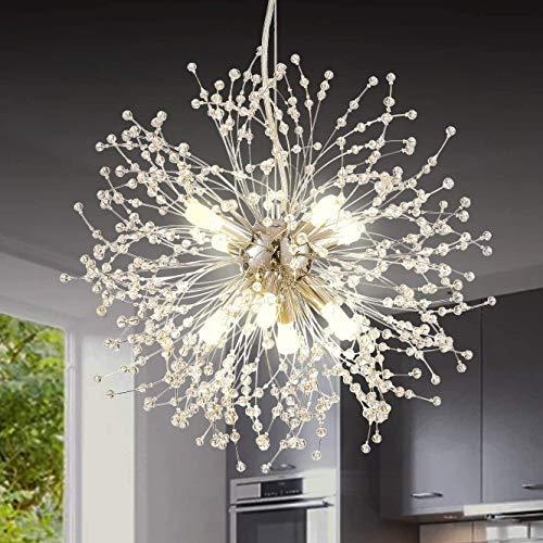 Berliget Crystal Firework Chandelier, Modern Vintage Sputnik Chandeliers Pendant Lighting Ceiling...