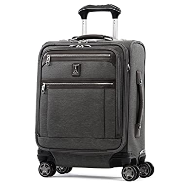 Travelpro Luggage Platinum Elite 20  Carry-on Intl Expandable Spinner with USB Port, Vintage Grey