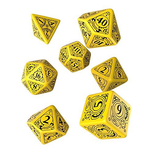 Dés de jeux Steampunk jaune & noir