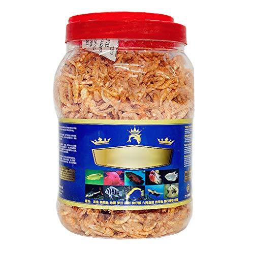 ZJL220 Aquarium Aliments pour Poissons tropicaux crevettes séchées congelées Tortue cichlidée Saine Alimentation Reptile Tortue Arowana Aliments séchés Alimentation Saine Riche en protéines