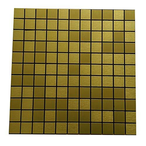 Yubingqin Cocina de Mosaico Cuarto de baño Azulejo Pegatina Calcomanía Recorte Decoración Impermeable 30 * 30 cm 10 PCS (Color : Gold)