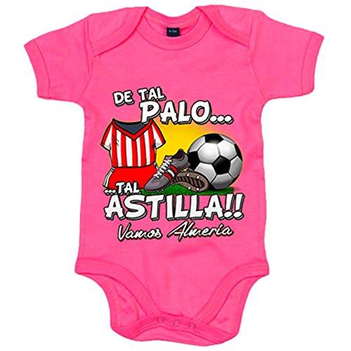 Body bebé De tal palo tal astilla Almería fútbol - Rosa, 6-12 meses