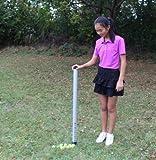 A99Golf Aluminum Ball Shager Golf Ball Tube Pickup Retriever Shagger Ball Storing Tube Hold Up 23 Balls The Practice Stick Ball Shagger Durable Easy Ball Collector 98CM