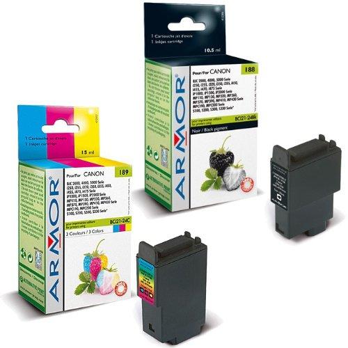 10x Patronen für Canon Pixma IP 1500 (6xBk, 4xColor) Qualität von Armor Druckerpatronen kompatibel für IP1500, 6x10, 5ml, 4x15ml