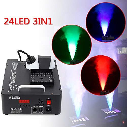 Nebelmaschine, WUPYI2018 1500W LED RGB Rauchmaschine Smoke Machine Stage Rauch Effekt mit Fernbedienung Fog Machine für Feiertage, Hochzeiten,Theater Party Club DJ