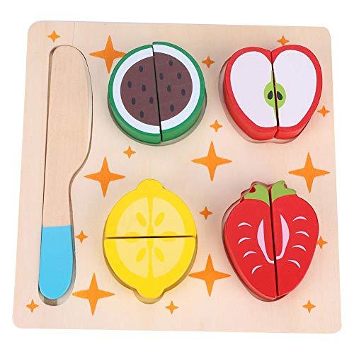 Zerodis- Jouet de Cuisine Aliments à Découper en Bois Jeu D'imitation pour Bébé Cadeau (Fruit)