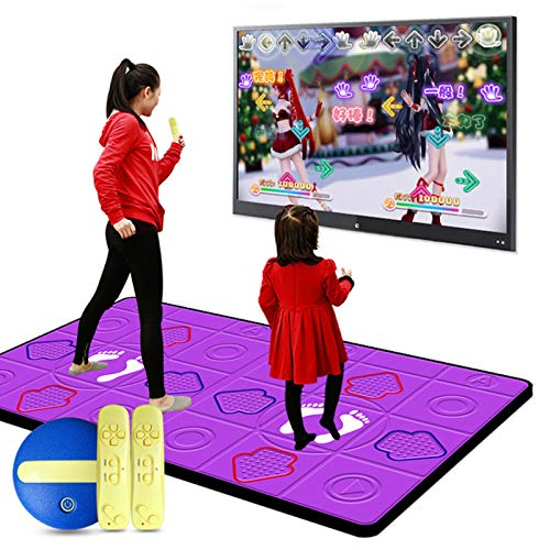 LLMM Double Dance Mat Dancing Step Pads with USB and HDMI Cable,...