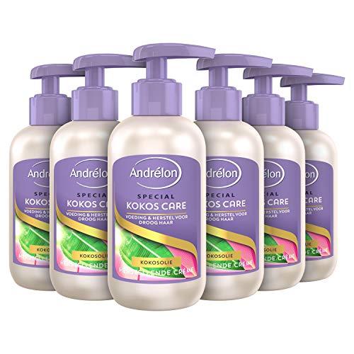 Andrélon Special Haarcrème Kokos Care voor droog en beschadigd haar - 6 x 200ML - Voordeelverpakking