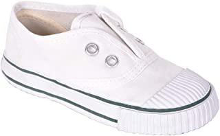 BATA White Boys and Girls Oliver School Shoes