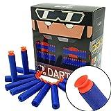 EKIND 100Pcs Suction Darts Refill Foam Bullet Compatible for Nerf Elite Guns (Blue)